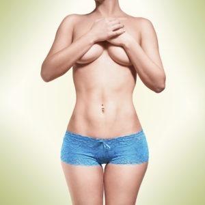 Body in blue panties