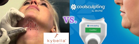 coolsculpting vs kybella